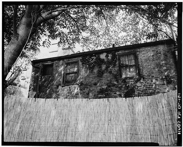 3.  Historic American Buildings Survey George Eisenman, Photographer Summer 1967 DETAIL, WINDOWS OF BRICK ELL - Adams-Mason House, 1072 Thomas Jefferson Street Northwest, Washington, District of Columbia, DC