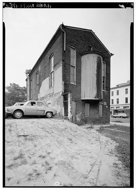 2.  PERSPECTIVE VIEW OF SOUTH AND EAST SIDES - Adas Israel Synagogue, Third & G Streets Northwest (moved from Sixth & G Streets Northwest), Washington, District of Columbia, DC