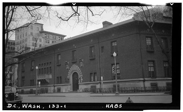 1.  Historic American Buildings Survey Frederick D. Nichols, Photographer December 1938 EYE STREET FACADE - John R. McLean House, 1500 I Street Northwest, Washington, District of Columbia, DC