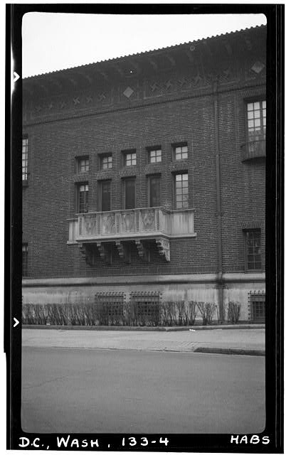 4.  Historic American Buildings Survey Frederick D. Nichols, Photographer December 1938 DETAIL OF EYE STREET FACADE - John R. McLean House, 1500 I Street Northwest, Washington, District of Columbia, DC