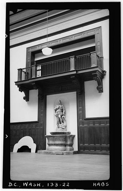 22.  Historic American Buildings Survey Frederick D. Nichols, Photographer December 1938 DETAIL OF BALCONY IN BALLROOM - John R. McLean House, 1500 I Street Northwest, Washington, District of Columbia, DC