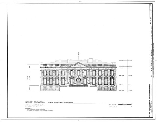 HABS DC,WASH,134- (sheet 31 of 83) - White House, 1600 Pennsylvania Avenue, Northwest, Washington, District of Columbia, DC