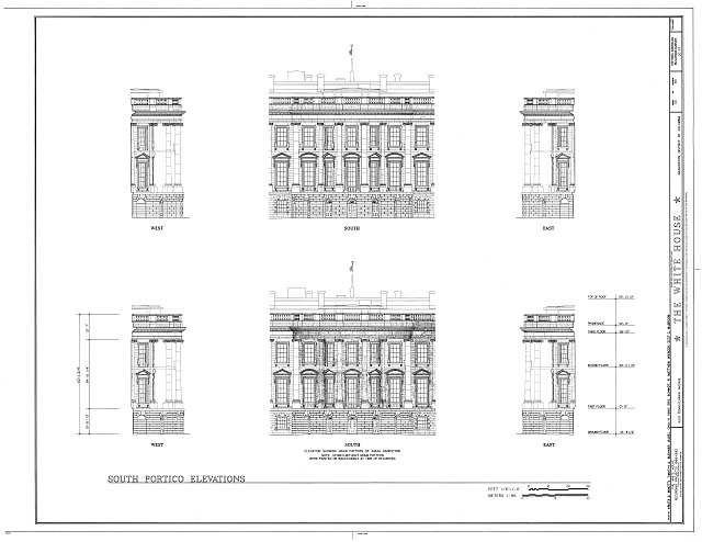 HABS DC,WASH,134- (sheet 35 of 83) - White House, 1600 Pennsylvania Avenue, Northwest, Washington, District of Columbia, DC