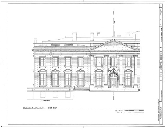 HABS DC,WASH,134- (sheet 37 of 83) - White House, 1600 Pennsylvania Avenue, Northwest, Washington, District of Columbia, DC
