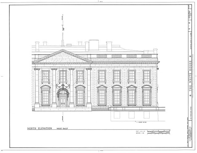 HABS DC,WASH,134- (sheet 38 of 83) - White House, 1600 Pennsylvania Avenue, Northwest, Washington, District of Columbia, DC