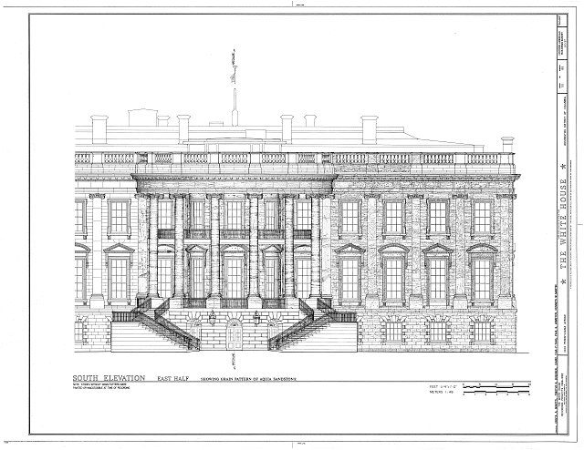 HABS DC,WASH,134- (sheet 50 of 83) - White House, 1600 Pennsylvania Avenue, Northwest, Washington, District of Columbia, DC