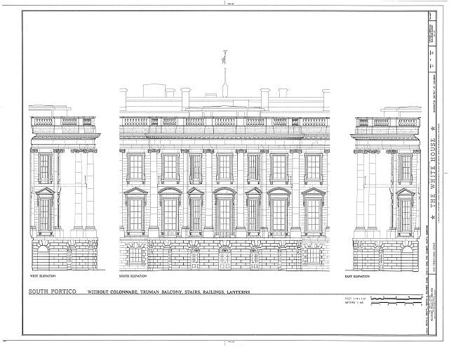 HABS DC,WASH,134- (sheet 51 of 83) - White House, 1600 Pennsylvania Avenue, Northwest, Washington, District of Columbia, DC