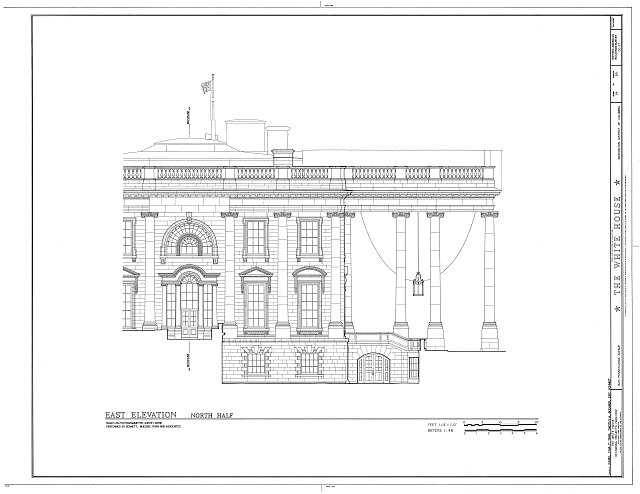 HABS DC,WASH,134- (sheet 54 of 83) - White House, 1600 Pennsylvania Avenue, Northwest, Washington, District of Columbia, DC