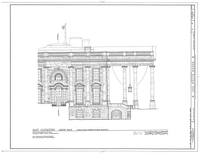 HABS DC,WASH,134- (sheet 56 of 83) - White House, 1600 Pennsylvania Avenue, Northwest, Washington, District of Columbia, DC