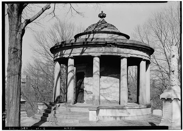 2.  Historic American Buildings Survey John O. Brostrup, Photographer April 2, 1937 3:30 P.M. VIEW FROM SOUTHWEST. - Van Ness Mausoleum, Oak Hill Cemetery, Washington, District of Columbia, DC