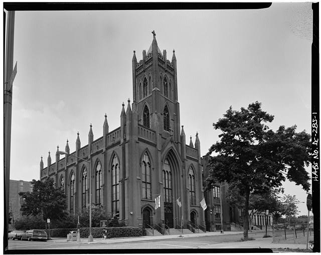 1.  WEST SIDE AND SOUTH FRONT - Immaculate Conception Church, Eighth & N Streets, Northwest, Washington, District of Columbia, DC