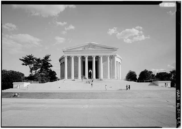 2.  North elevation. 4 June 1991. - Jefferson Memorial, East Potomac Park, Washington, District of Columbia, DC