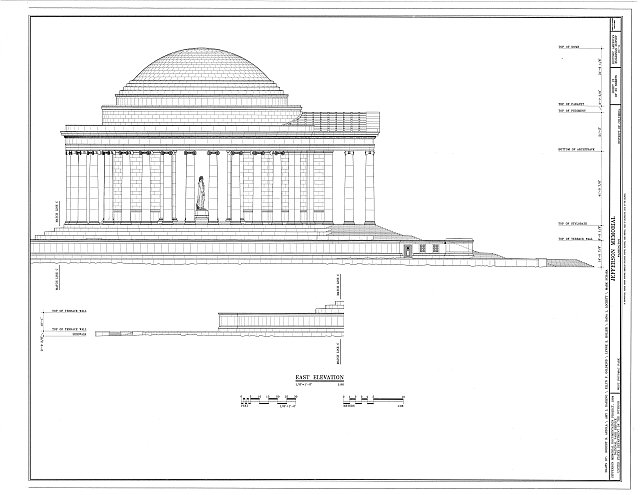 HABS DC,WASH,453- (sheet 13 of 25) - Jefferson Memorial, East Potomac Park, Washington, District of Columbia, DC
