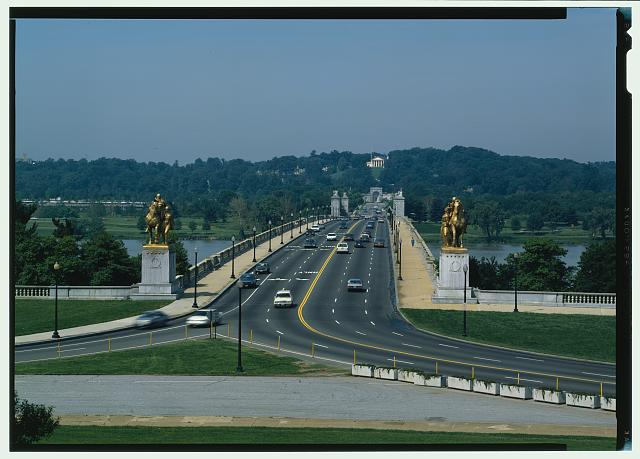 - Arlington Memorial Bridge, Spanning Potomac River between Lincoln Memorial & Arlington National Cemetery, Washington, District of Columbia, DC
