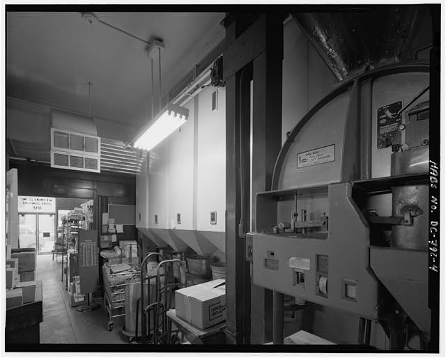 Interior view of first floor coffee bins from northeast - 1013 E Street, Northwest (Commercial), Square 347, Washington, District of Columbia, DC