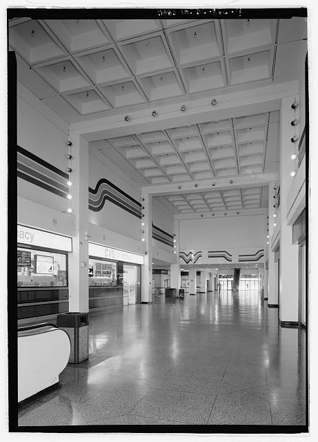 INTERIOR VIEW, WATERSIDE MALL  - Southwest Washington, Urban Renewal Area, Bounded by Independence Avenue, Washington Avenue, South Capitol Street, Canal Street, P Street, Maine Avenue & Washington Channel, Fourteenth Street, D Street, & Twelfth Street, Washington, District of Columbia, DC