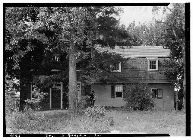 2.  Historic American Buildings Survey Earl Brooks, Photographer 1958 GENERAL VIEW FROM SOUTHWEST - Robinson-Murray House, Limestone Road, Milltown, New Castle County, DE