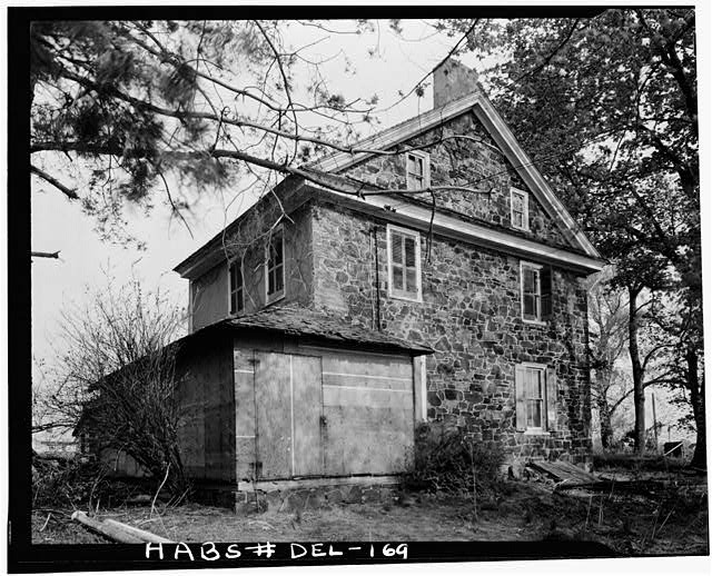 5.  Historic American Buildings Survey Earl Brooks, Photographer 1958 SIDE (NORTHWEST) ELEVATION - Robinson-Murray House, Limestone Road, Milltown, New Castle County, DE