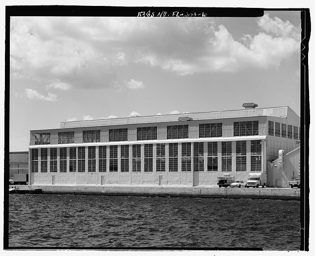 SOUTH ELEVATION - U.S. Naval Air Station, Aircraft Repair Shop, Pensacola, Escambia County, FL