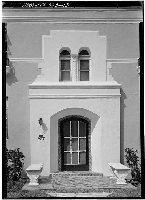 13.  1534 EUCLID AVENUE, ENTRANCE DOORWAY - Miami Beach Art Deco Historic District, Miami, Miami-Dade County, FL