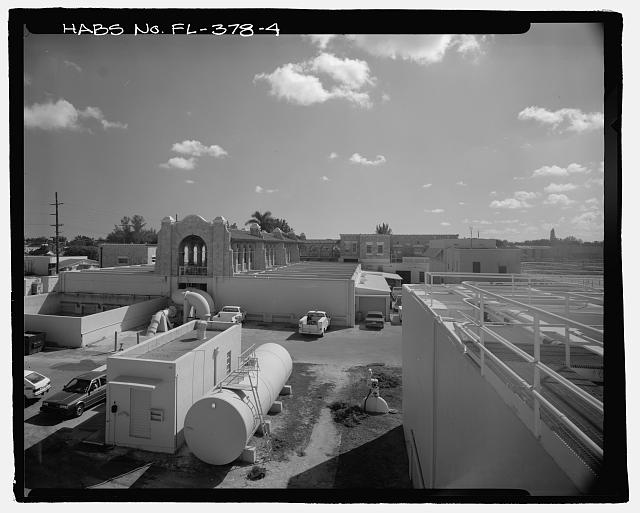 North rear - Miami Municipal Water Softening Plant, 700 West Second Avenue, Hialeah, Miami-Dade County, FL