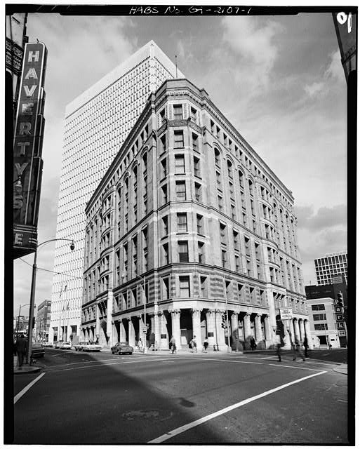 1.  GENERAL VIEW (PRYOR STREET FACADE, CORNER, EDGEWOOD AVENUE FACADE) - Equitable Building, 25 Pryor Street Northeast, Atlanta, Fulton County, GA