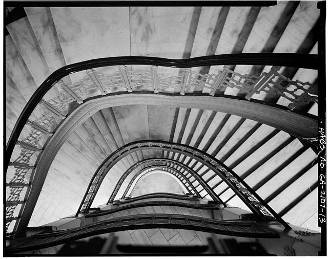 13.  INTERIOR, STAIRWELL, LOOKING DOWN - Equitable Building, 25 Pryor Street Northeast, Atlanta, Fulton County, GA