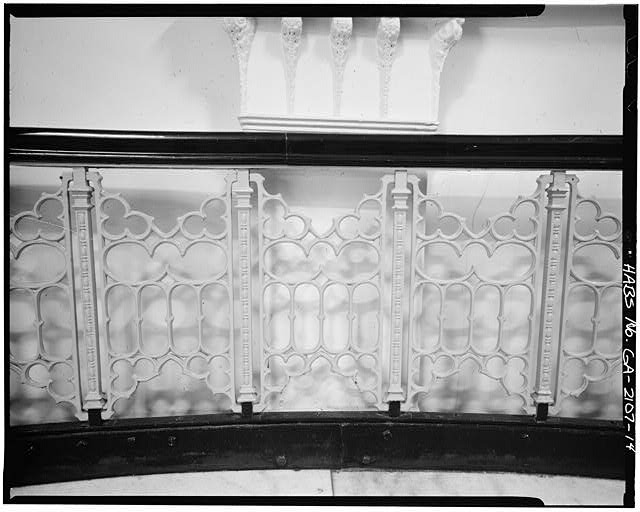 14.  INTERIOR, DETAIL, IRON RAILING OF STAIRCASE - Equitable Building, 25 Pryor Street Northeast, Atlanta, Fulton County, GA