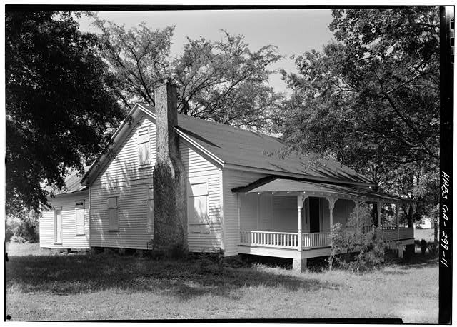 11.  PERSPECTIVE VIEW OF NORTH (FRONT) AND EAST SIDE - Kolb House, Powder Springs Road, Kennesaw, Cobb County, GA
