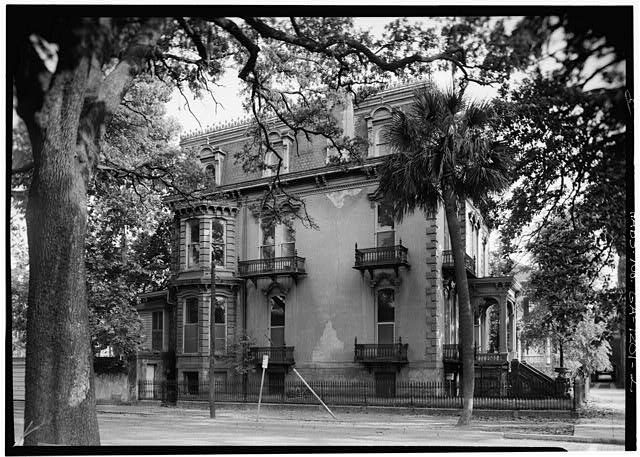 2.  NORTH SIDE AND FRONT - Samuel P. Hamilton House, 330 Abercorn Street, Savannah, Chatham County, GA