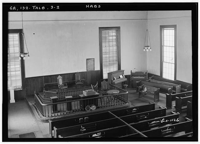 2.  Historic American Buildings Survey L. D. Andrew, Photographer Oct. 24, 1936 VIEW OF INTERIOR - Methodist Church, Talbotton, Talbot County, GA