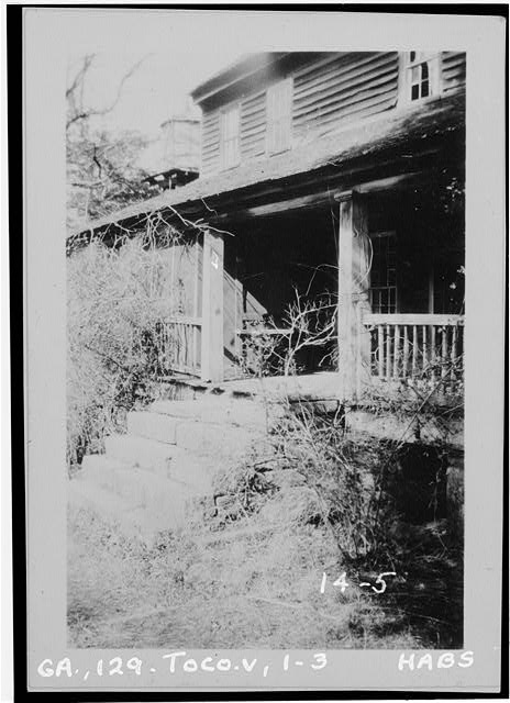 3.  Historic American Buildings Survey Branan Sanders, Photographer March 1934 ENTRANCE STEPS - Travelers Rest, Toccoa, Stephens County, GA