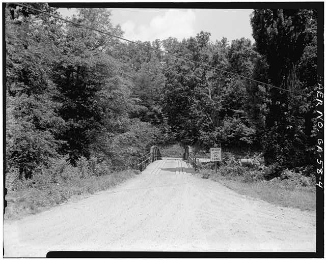 4.  VIEW SHOWING SOUTH APPROACH - Fannin County Road 222 Bridge, Spanning Toccoa River, Dial, Fannin County, GA