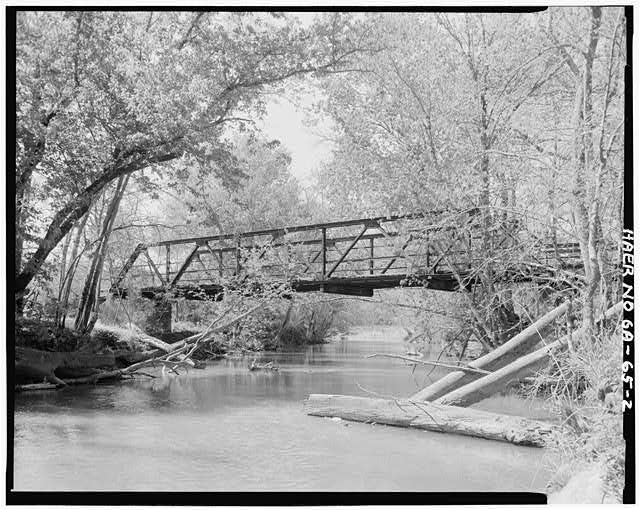 2.  East elevation - Gordon County Road 220 Bridge, Spanning Pine Log Creek on County Road 220, Fairmount, Gordon County, GA