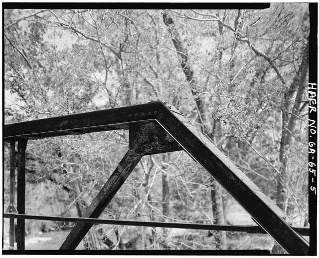 5.  Detail of rivet connection - Gordon County Road 220 Bridge, Spanning Pine Log Creek on County Road 220, Fairmount, Gordon County, GA