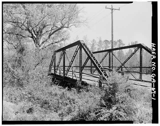 1.  North Elevation - Gordon County Road No. 24 Bridge, Spanning New Town Creek at County Road 24, New Town, Gordon County, GA