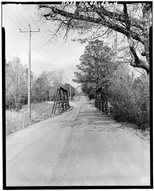 4.  East Approach - Gordon County Road No. 24 Bridge, Spanning New Town Creek at County Road 24, New Town, Gordon County, GA