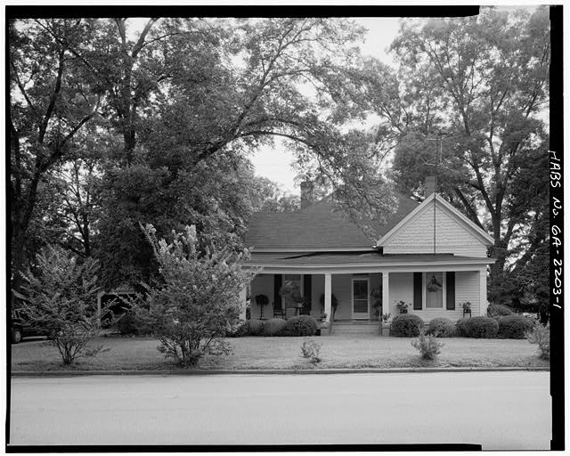 1.  WEST FRONT - Rosalynn Carter Childhood Home, 219 South Bond Street, Plains, Sumter County, GA