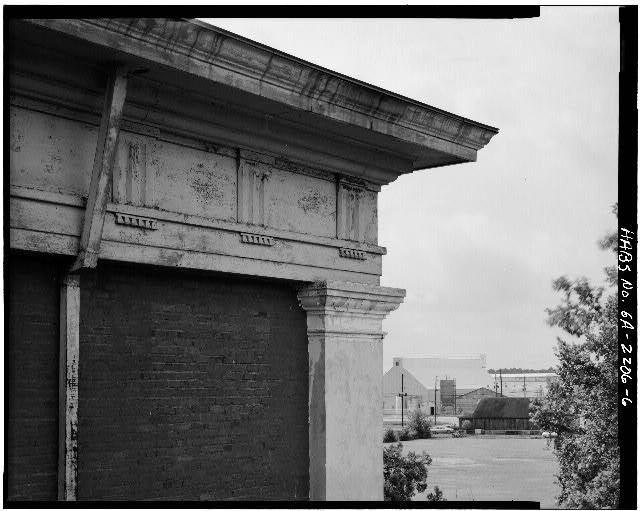 6.  MAIN BLOCK, SECOND STORY, DETAIL OF CORNICE - Plains School, Bond Street (opposite Paschal Street), Plains, Sumter County, GA