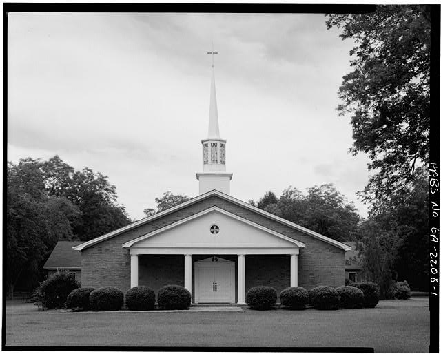 1.  WEST FRONT - Maranatha Baptist Church, Georgia Highway 49 near Hospital Street, Plains, Sumter County, GA