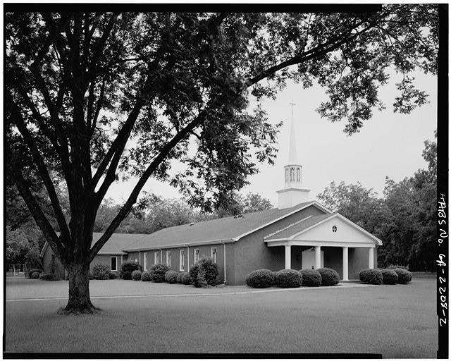 2.  NORTH SIDE AND WEST FRONT - Maranatha Baptist Church, Georgia Highway 49 near Hospital Street, Plains, Sumter County, GA
