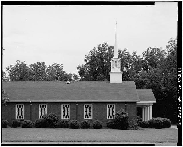 3.  NORTH SIDE - Maranatha Baptist Church, Georgia Highway 49 near Hospital Street, Plains, Sumter County, GA