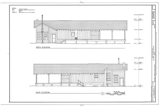HABS GA,131-PLAIN,15- (sheet 3 of 5) - Plains Depot, Hudson & Main Streets, Plains, Sumter County, GA