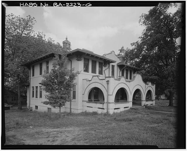 6.  NORTH SIDE AND WEST FRONT - McCamy House, 401 South Thornton Avenue, Dalton, Whitfield County, GA