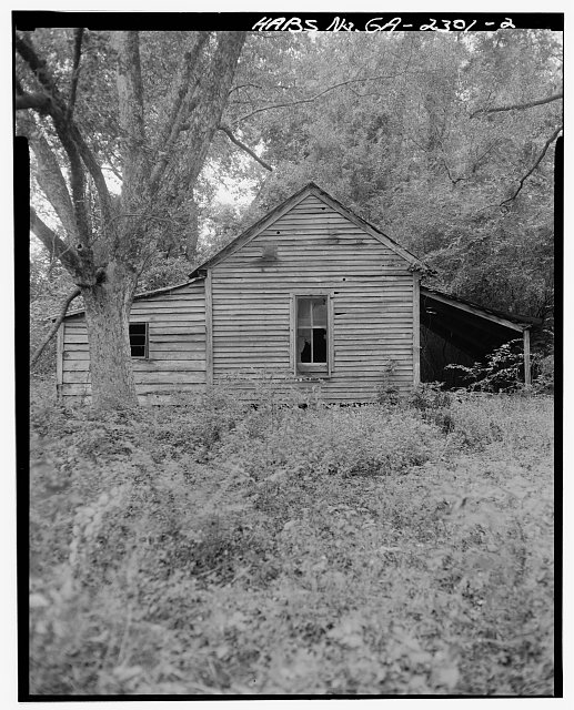 2.  East side - Rambo-Ivey Tenant House, East of U.S. 27/State Route 1, North of County Road 132, Bluffton, Clay County, GA