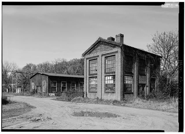 2.  LAB BUILDING ON RIGHT, PATTERN SHOP LEFT, VIEW LOOKING NORTHEAST - Glover Machine Works, 651 Butler Street, Marietta, Cobb County, GA