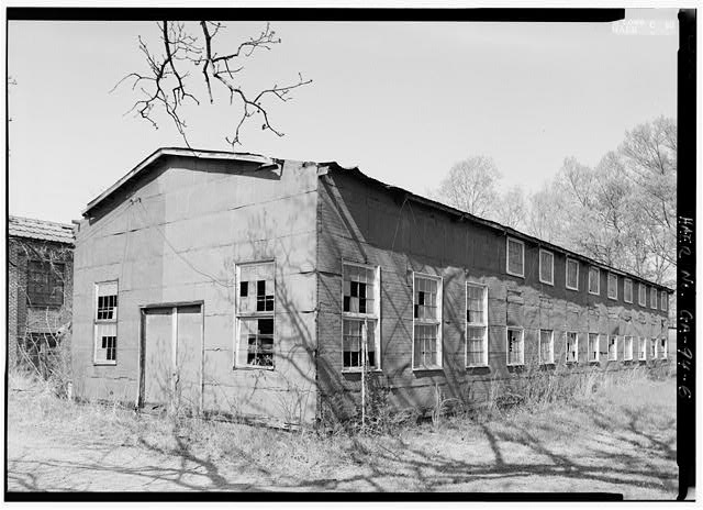6.  3\4 VIEW OF PATTERN WAREHOUSE LOOKING NORTHEAST - Glover Machine Works, 651 Butler Street, Marietta, Cobb County, GA