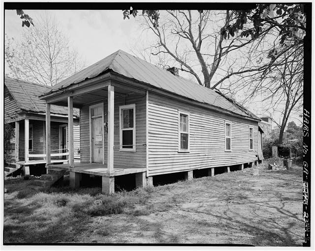 2.  View showing east rear and south side elevations - 1636 Fourth Street (House), Columbus, Muscogee County, GA