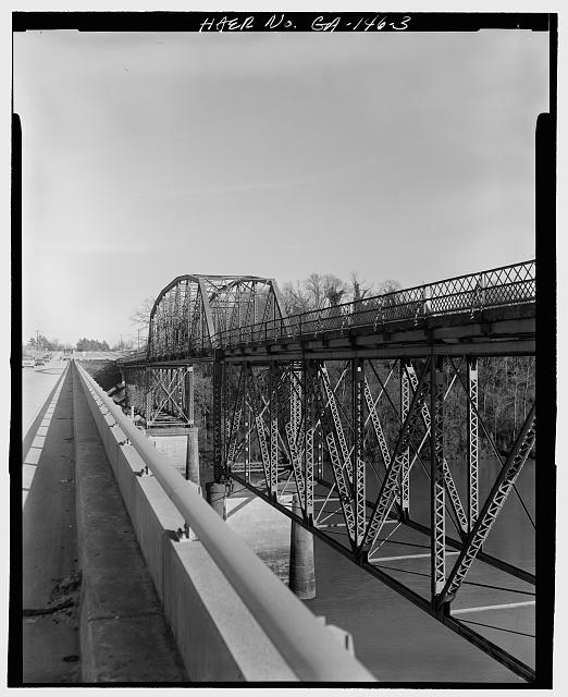 3.  NORTH ELEVATION FACING SOUTHEAST - Sand Bar Ferry Bridge, Spanning Savannah River  on State Highway 28, Augusta, Richmond County, GA