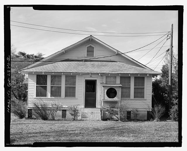 REAR VIEW - Mamie R. Brinson House, 341 South Main Street, Statesboro, Bulloch County, GA